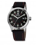 watch KRETOS Gent, SST, black/red, black WAT.0251.1005