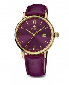 woman's watch ALZA Lady, YG, violet, violet large WAT.0141.1301