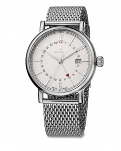 woman's watch ALZA GMT, SST, white, mesh WAT.0142.1002