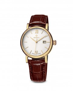 woman's watch ALZA Lady, RG, white, brown WAT.0121.1401